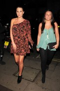 Danielle Lloyd leaving Nobu Resaurant in London Jan 15th HQ x 5