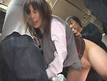 Molester School Girls Creampie on Train
