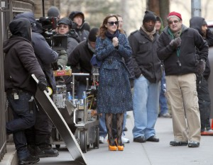 Лейгтон Мистер, фото 6859. Leighton Meester On the Set of 'Gossip Girl' in Manhattan - 05.03.2012, foto 6859