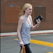 Dakota Fanning *Sweetness* Leaving Chipotle After Lunch In Studio City -August 1st  2010- (HQ X19)