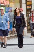 Mariska Hargitay � on the set of Law and Order: SVU in NY 08-17-10